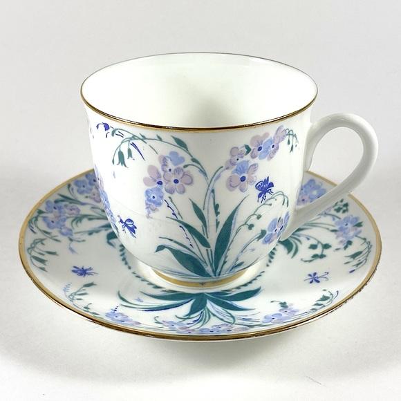Vintage Lomonosov USSR porcelain teacup & saucer